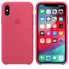Apple Silicone Case Oryginalne Silikonowe Etui do iPhone Xs (Hibiskus)