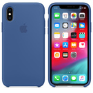 Apple Silicone Case Oryginalne Silikonowe Etui do iPhone Xs (Delftyjski Błękit)