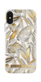 iDeal of Sweden Fashion Case Etui Obudowa do iPhone Xs / iPhone X (Platinium Leaves)