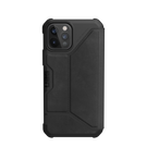 Urban Armor Gear Metropolis Skórzane Etui Pancerne z Klapką do iPhone 12 Pro / iPhone 12 (LTHR ARMR Black)