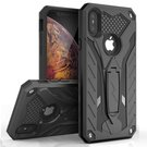 (EOL) Zizo Static Cover Etui Pancerne z Podstawką do iPhone Xs Max (Black/Black)