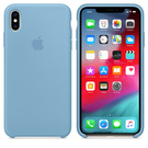 Apple Silicone Case Oryginalne Silikonowe Etui do iPhone Xs (Chabrowy)