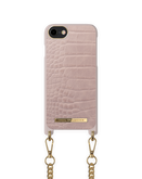 iDeal of Sweden Necklace Etui Obudowa ze Smyczą do iPhone SE (2020) / iPhone 8 / iPhone 7 / iPhone 6s / iPhone 6 (Misty Rose Croco)