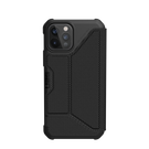 Urban Armor Gear Metropolis Etui Pancerne z Klapką do iPhone 12 Pro / iPhone 12 (FIBR ARMR Black)