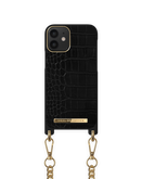 iDeal of Sweden Necklace Etui Obudowa ze Smyczą do iPhone 12 Mini (Jet Black Croco)