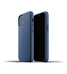 Mujjo Full Leather Case Etui Skórzane do iPhone 12 Mini (Monaco Blue)
