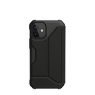 Urban Armor Gear Metropolis Etui Pancerne z Klapką do iPhone 12 Mini (SATN ARMR Black)