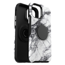 OtterBox Symmetry Pop Etui Ochronne z PopSockets do iPhone 12 Pro / iPhone 12 (White Marble)