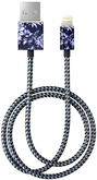 iDeal of Sweden Cable Kabel USB ze Złączem Lightning MFI 1m (Sailor Blue Bloom)