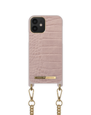iDeal of Sweden Necklace Etui Obudowa ze Smyczą do iPhone 12 Pro / iPhone 12 (Misty Rose Croco)