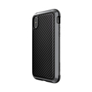 X-Doria Defense Lux Etui Aluminiowe do iPhone Xs / iPhone X (Drop Test 3m) (Black Carbon Fiber)