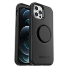 OtterBox Symmetry Pop Etui Ochronne z PopSockets do iPhone 12 Pro / iPhone 12 (Black)